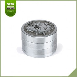 Grinder 40 mm The Bulldog Amsterdam Silver