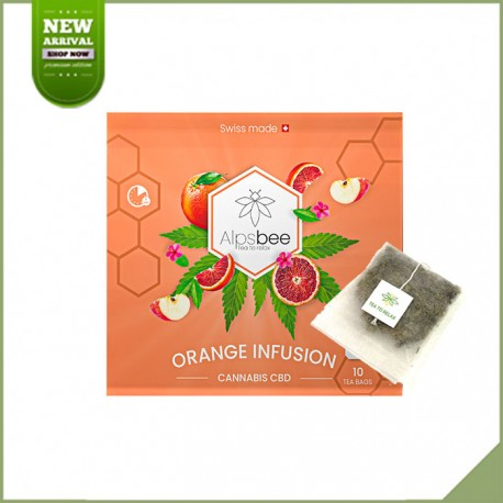 Tisane cbd en sachet - Alpsbee Orange infusion