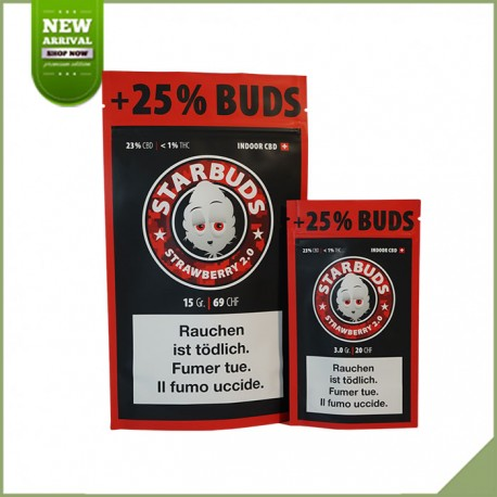 Fleurs de cannabis CBD Starbuds Strawberry 9g 23%