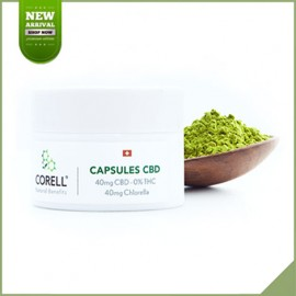 Capsules cbd + chlorella by Corell 40 mg